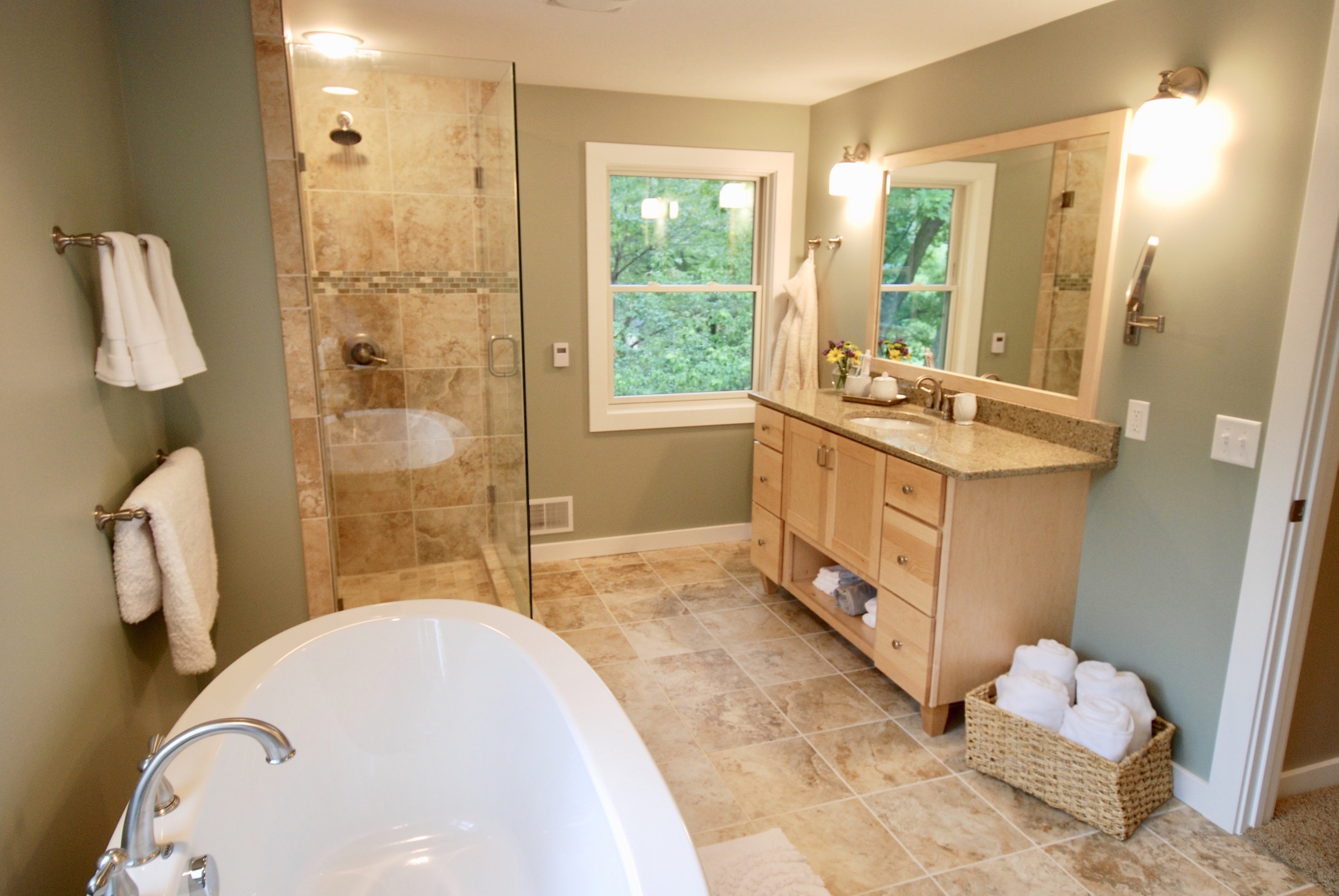 beautifully renovated bathroom from Nelson Builders