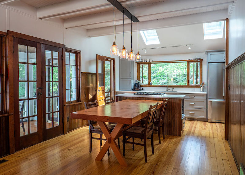 beautifully remodeled kitchen and dining room from Nelson Builders